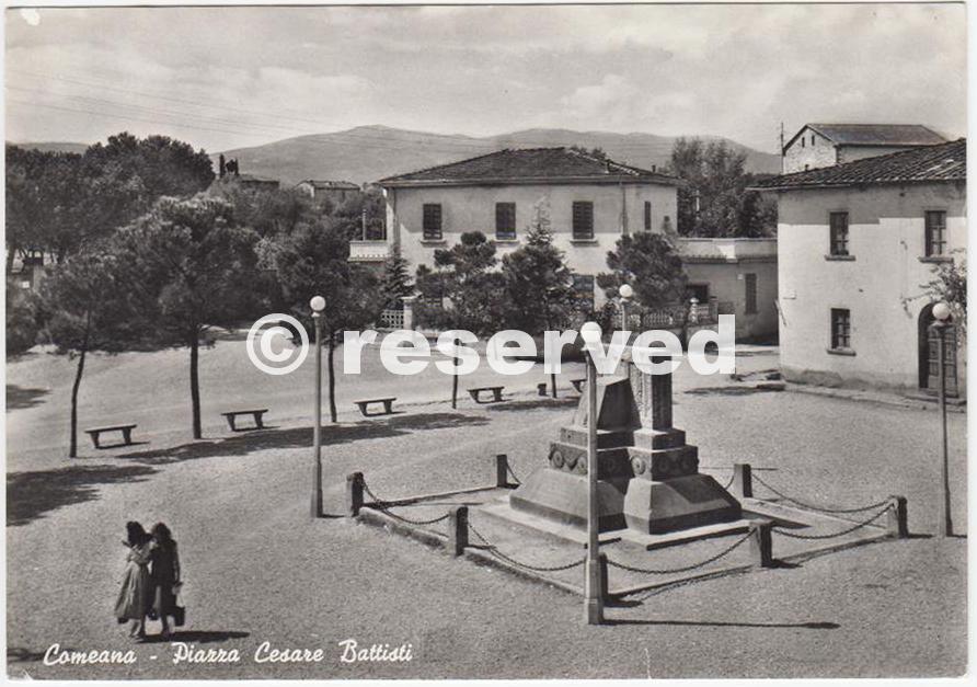 COMEANA DI CARMIGNANO PRATO PIAZZA C.BATTISTI 1950