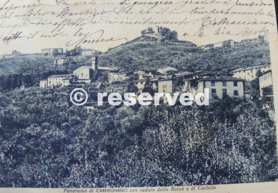 Carmignano Prato Veduta della Rocca e di Castello