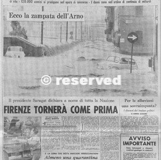 ALLUVIONE FIRENZE 4 NOVEMBRE 1966