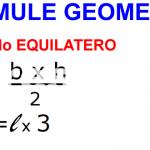 CONO EQUILATERO FORMULE