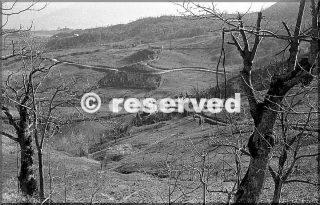 1945 vista della strada tra gaggio montano e malandrone pietracolora italia