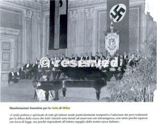 manifestazione fiorentina per la visita di hitler
