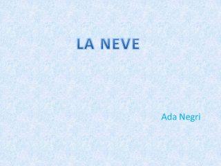 la-neve-ada-negri-analisi-e-parafrasi