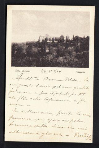 TIZZANA-PISTOIA-VILLA-GAZZOLA 1930