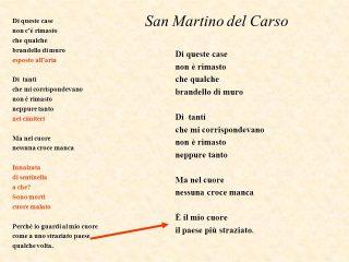 SAN MARTINO DEL CARSO ANALISI DEL TESTO