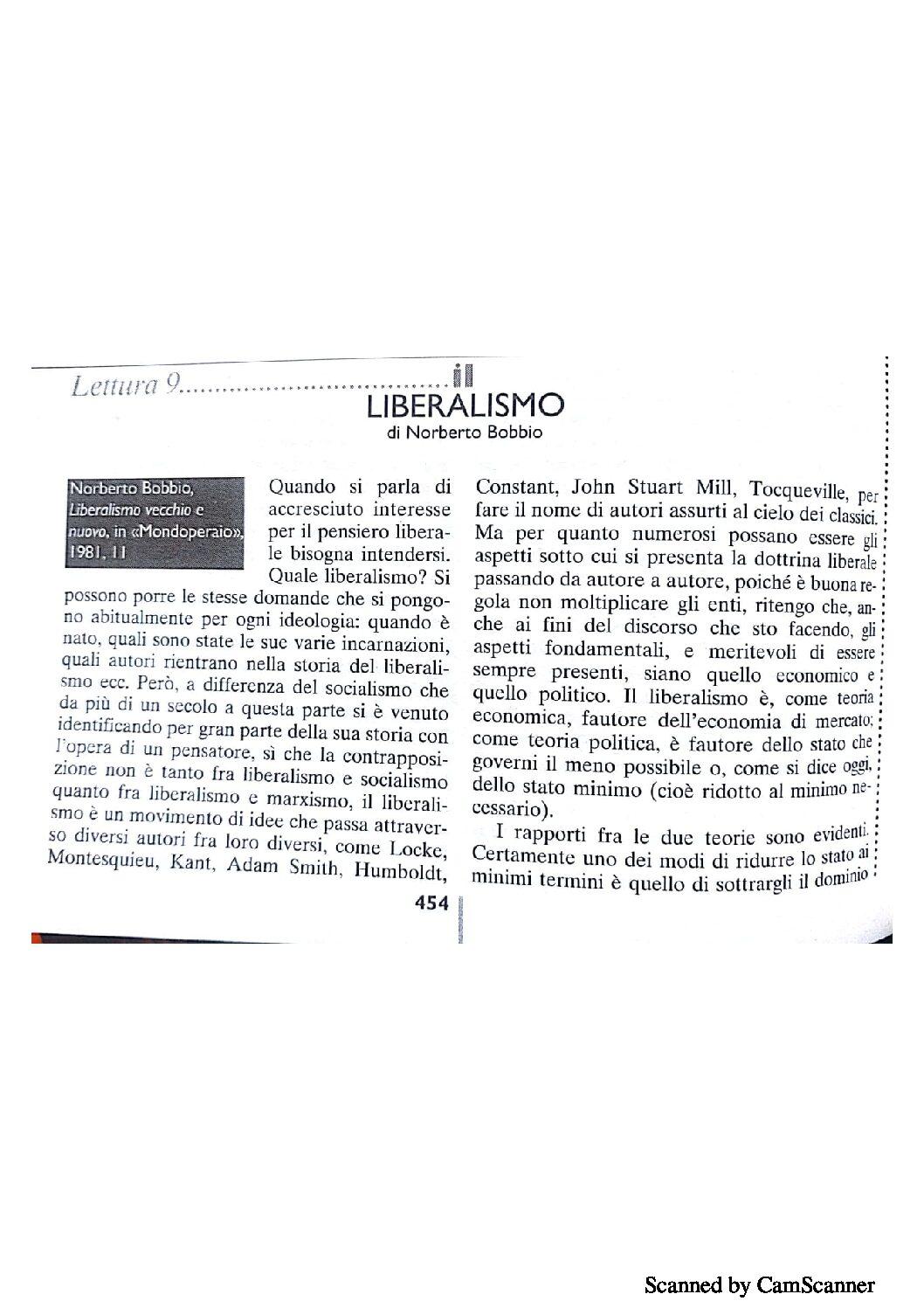 LIBERALISMO NORBERTO BOBBIO