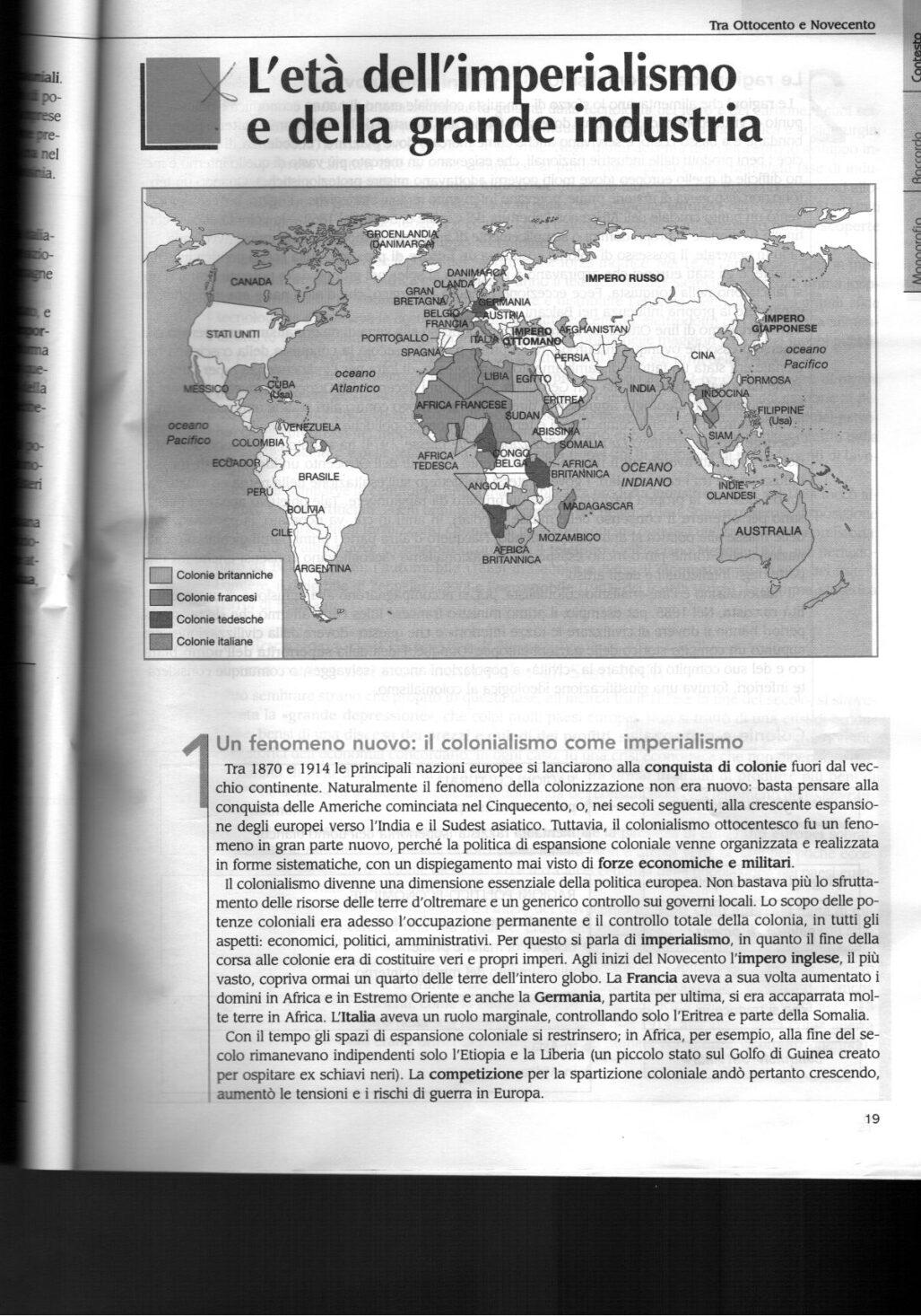 L'ETA DELL'IMPERIALISMO E DELLA GRANDE INDUSTRIA