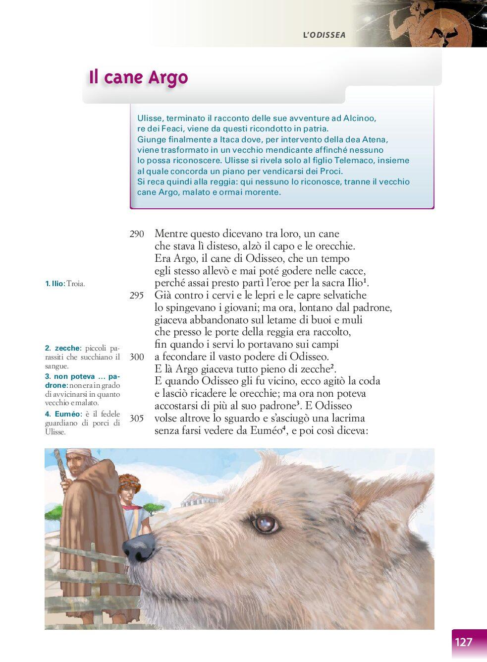 IL CANE ARGO ODISSEA