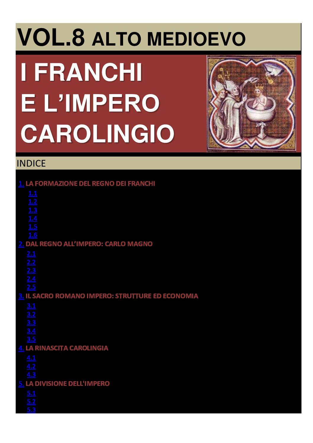 I FRANCHI E L'IMPERO CAROLINGIO