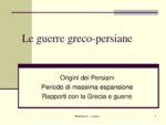 LE GUERRE GRECO PERSIANE