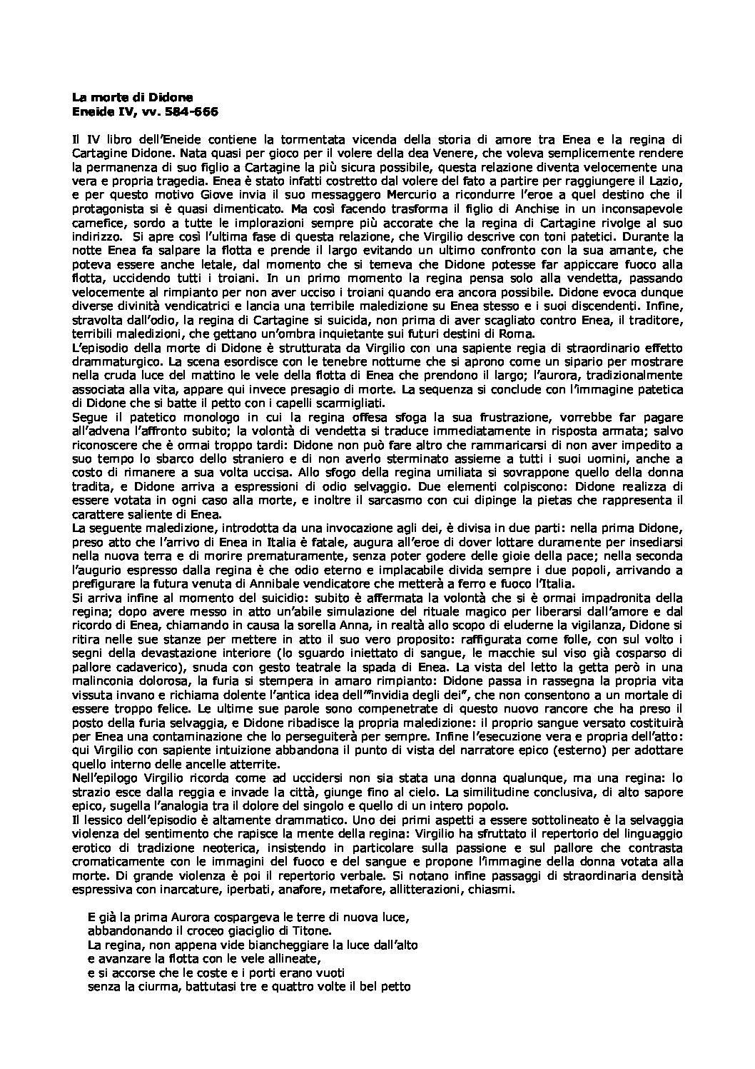 LA MORTE DI DIDONE ENEIDE IV VV 584-666 PDF
