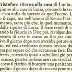 PADRE CRISTOFORO RITORNA ALLA CASA DI LUCIA